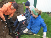 Kids doing archaeology