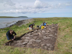 Excavation of the Iron Age Mound at Swandro